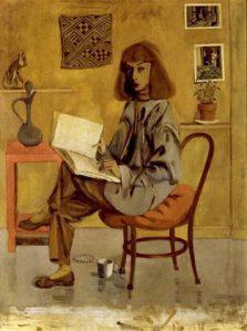 self-portrait of Elaine de Koomey