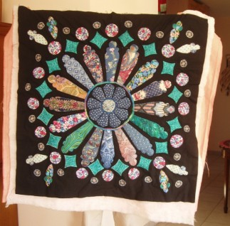 fabric rose window - work in progress