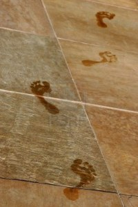 wet-footprints-cross-a-tile-floor