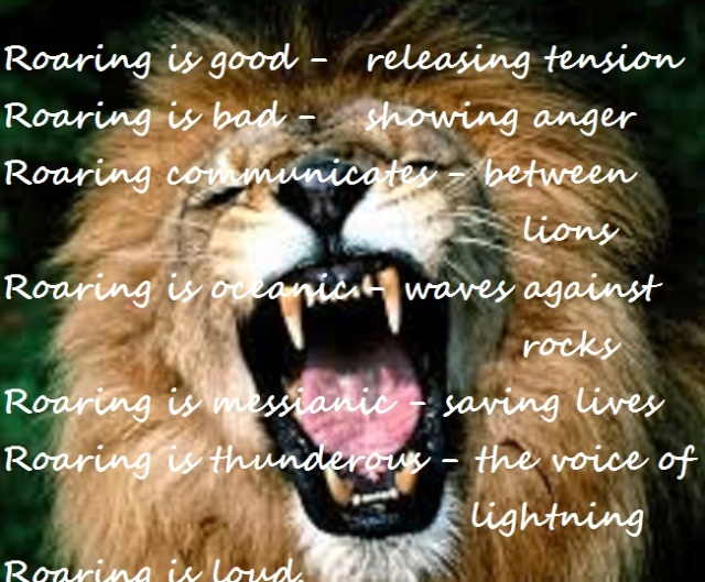 roaring haiga