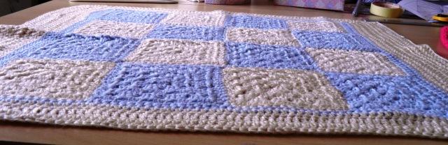 Vicki's crochet pram cover