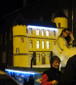 Carneval 2014 by night closeup of our float