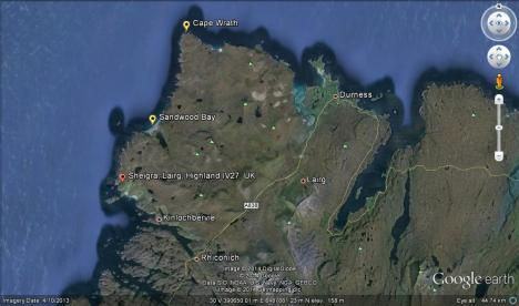 North West Scotland from Google Earth Edited by Sally Hutt
