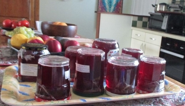 blackberry, raspberry and apple jelly 7.9.14