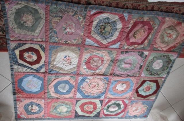 Annette's quilt in restoration