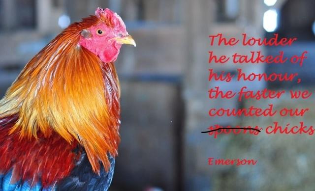 celie's rooster haiga