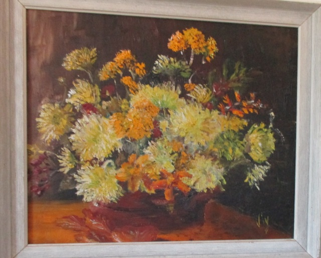 Viv's Chrysanthemums painting
