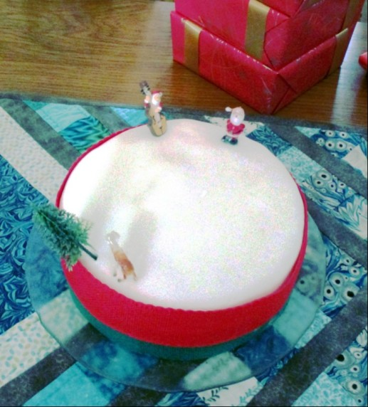 Christmas cake for Kay and Sylvia 2015