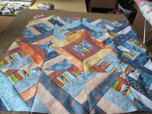Annette's table topper assembled