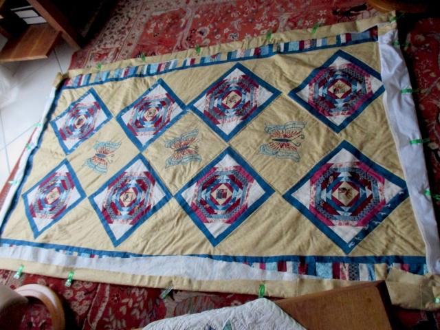 pineapple child's quilt sandwich 2