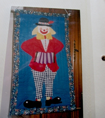 Mimine's Clown wall hanging