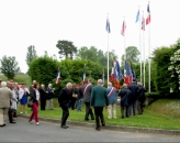 The gathering at the flags