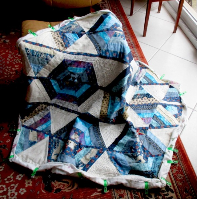 wonky hexagon quilt
