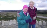 Mun and Jo on the top of Northumbrelandia 2013